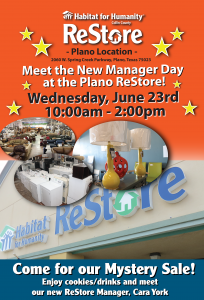 Meet the New Manager Day at the Plano ReStore @ Plano ReStore